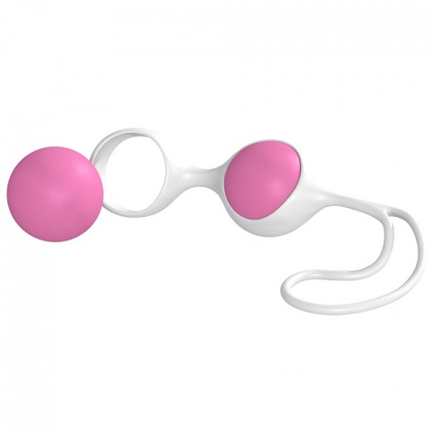 Вагинальные шарики Minx Discretion Love Balls White Pink