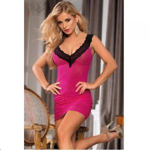 Мини-платье розово-черное Dolce Piccante