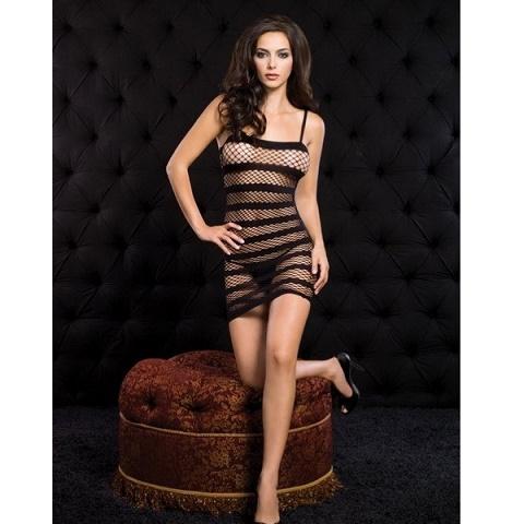 Мини-платье в сетку черного цвета Leg Avenue